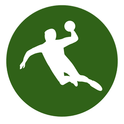 Handball player circle icon