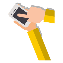 Mãos nos desenhos animados do smartphone
