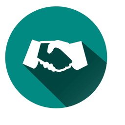 Handshake circle icon