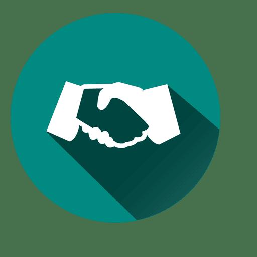 Icono de círculo de apretón de manos Transparent PNG