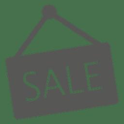 Ícone de sinal de venda de suspensão