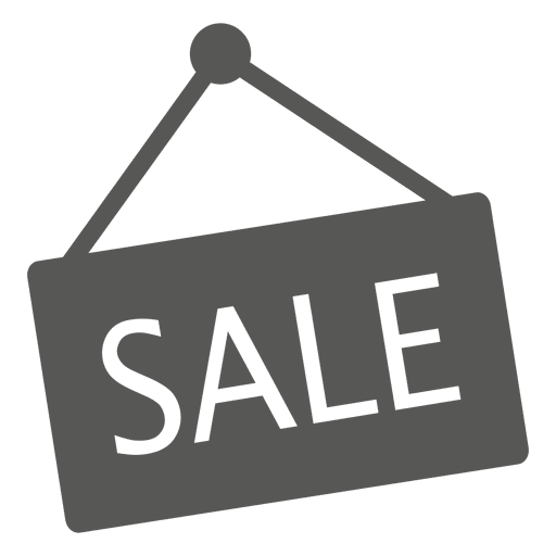 Hanging sale sign icon Transparent PNG