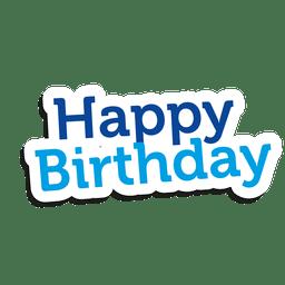 Etiqueta engomada del feliz cumpleaños