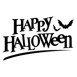 Happy halloween label
