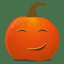 Emoticon de calabaza feliz