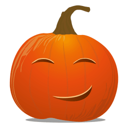 Happy pumpkin emoticon