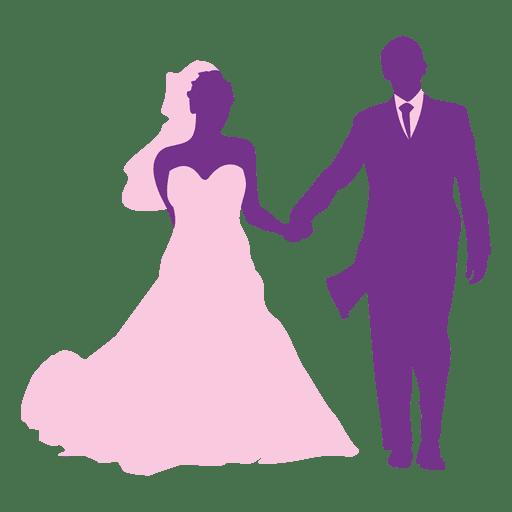Boda feliz pareja silueta Transparent PNG