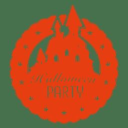 castillo frecuentado de Halloween insignia
