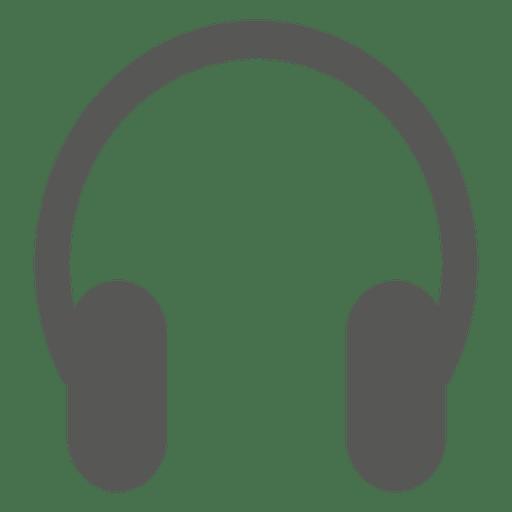 Silhueta de ícone plano de fone de ouvido