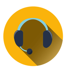 Headset circle icon