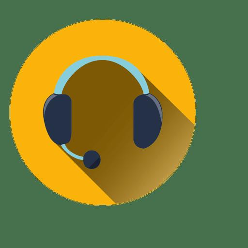 Icono de círculo de auriculares Transparent PNG