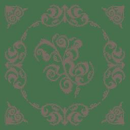 Corazon de corazon remolinos decoracion