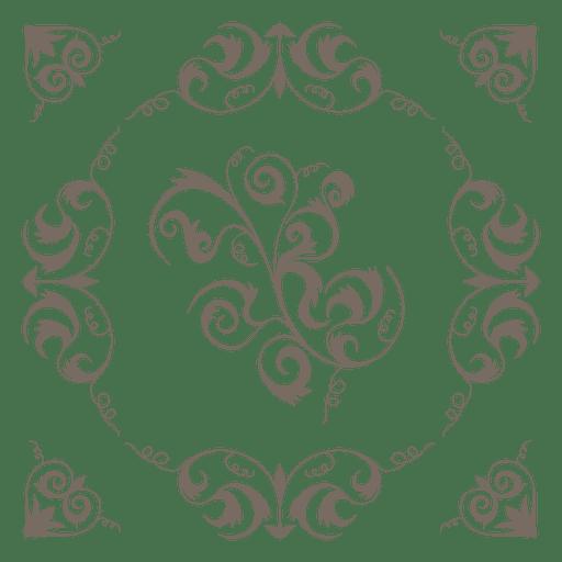 Corazon de corazon remolinos decoracion Transparent PNG