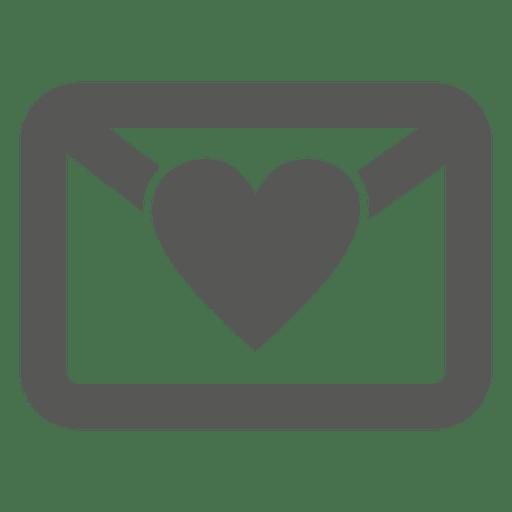 Coração envelope ícone Transparent PNG