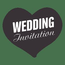 Emblema do casamento do coração