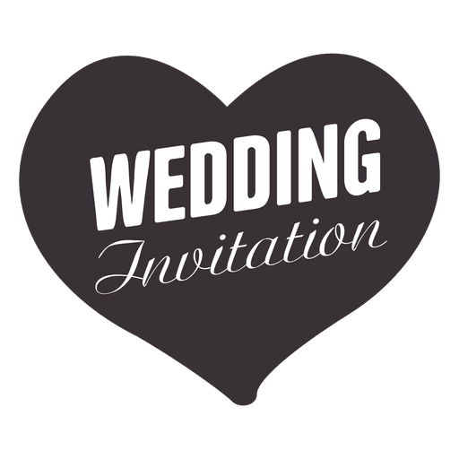 Heart wedding badge Transparent PNG