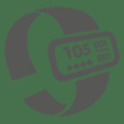Icono de pulsera de ritmo cardíaco