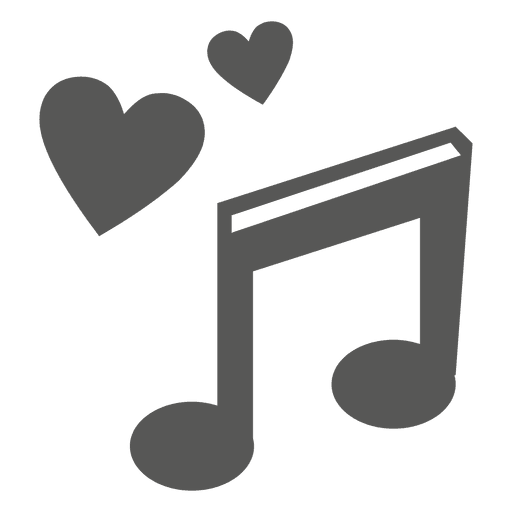 Hearts music note icon