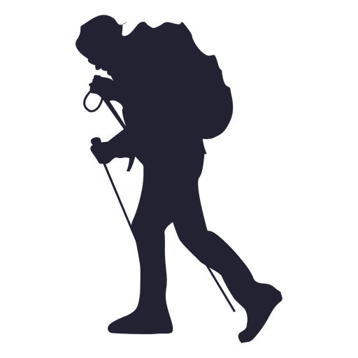 Hiking adventure silhouette Transparent PNG