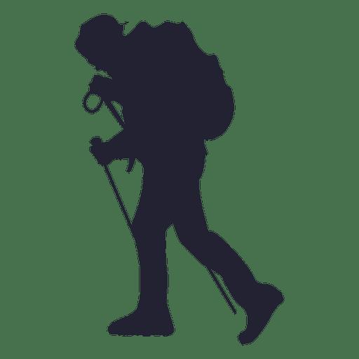 Hiking adventure silhouette