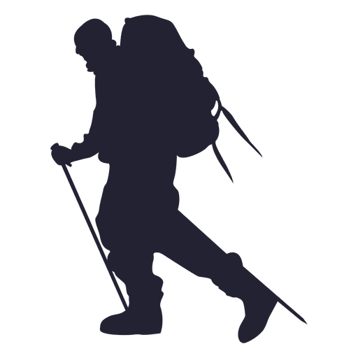 Hiking mountain silhouette Transparent PNG
