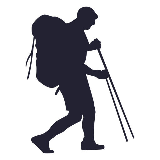 Hiking outdoor silhouette Transparent PNG