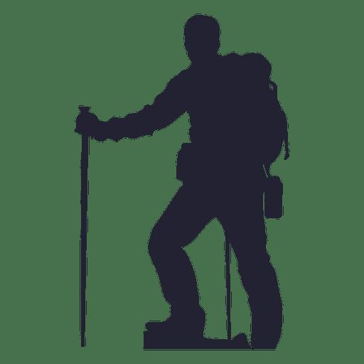 Caminhadas silhueta de homem