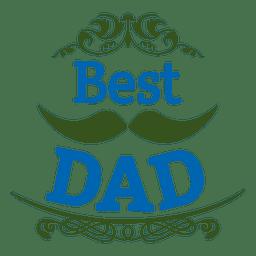 Hipster best dad label