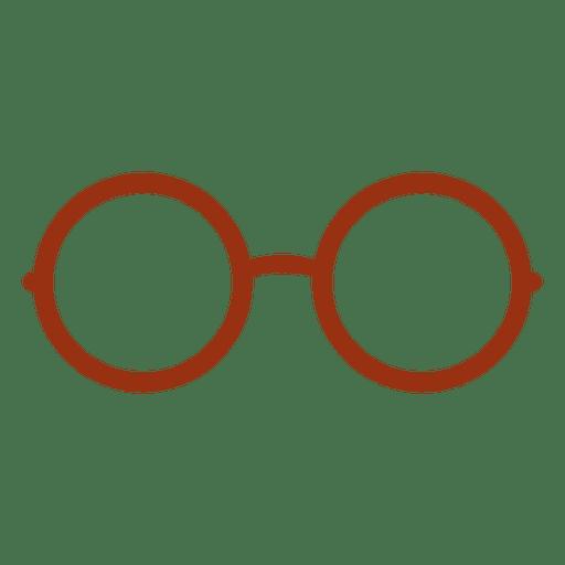 Icono de anteojos hipster