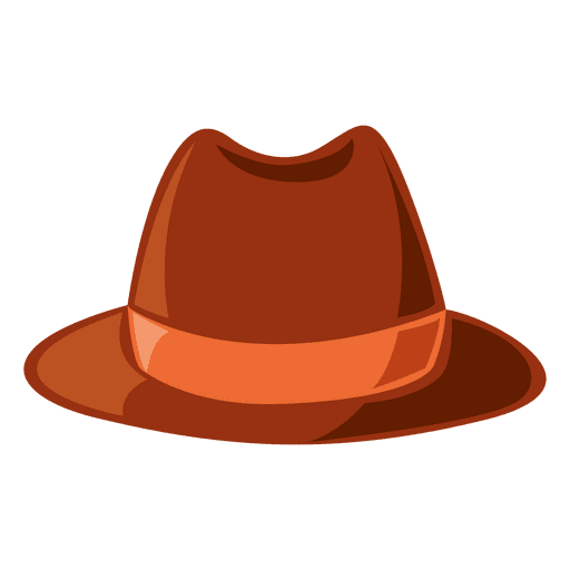 Hipster hat in brown tones Transparent PNG