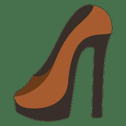 Zapato de tacón alto hipster