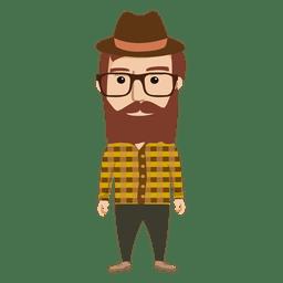 Hipster personaje masculino 1