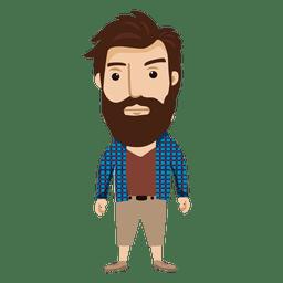 Hipster personaje masculino 2