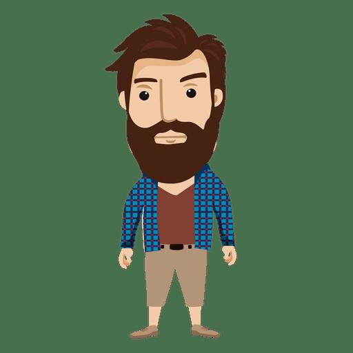 Personaje masculino hipster 2