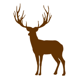 Hipster reindeer silhouette