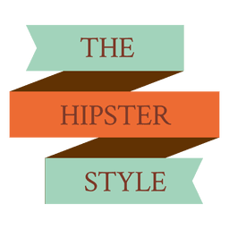 Hipster ribbon badge