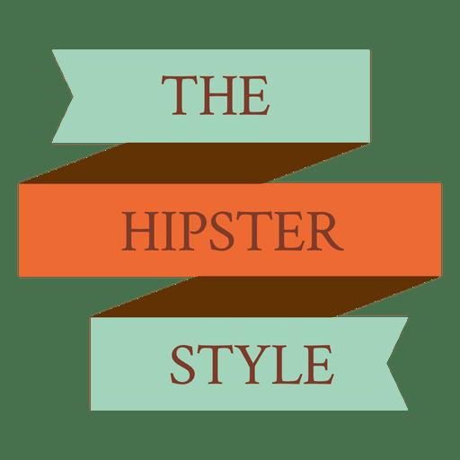 Hipster ribbon badge