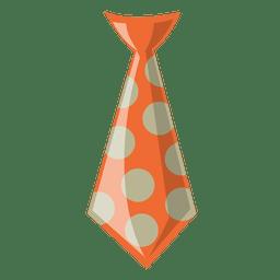 Gepunktete Hipster-Krawatte