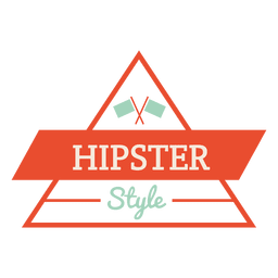 Hipster triangle badge