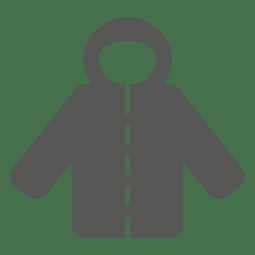 Ícone de casaco com capuz Transparent PNG