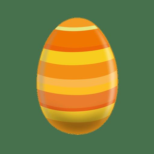 Huevo de pascua de l?neas horizontales