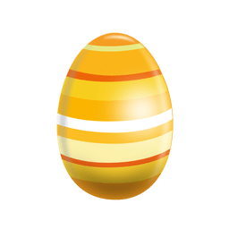 Horizontal stripes easter egg