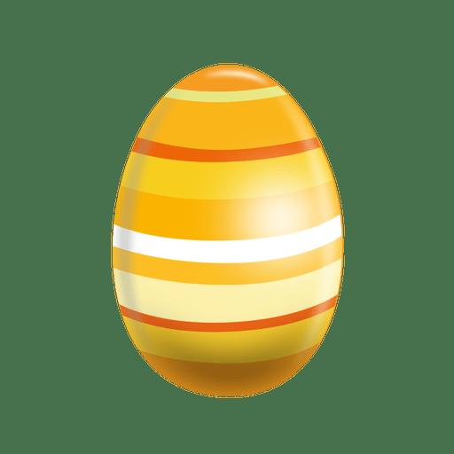 Huevo de pascua de rayas horizontales