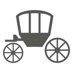 Horse cart icon