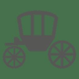 Ícone de carrinho de cavalo