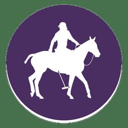 Cavalo, círculo polo, ícone