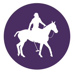 Horse Polo Kreis Symbol