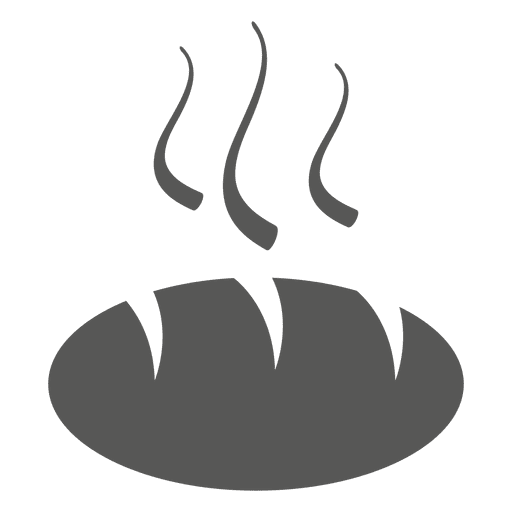 Hot bun bread icon Transparent PNG