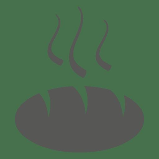 Hot bun bread icon