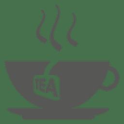 Taza caliente de icono de té